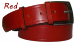 38mm Red Handmade English Bridle Leather Belt With Buckle - made in England by Bucklebox